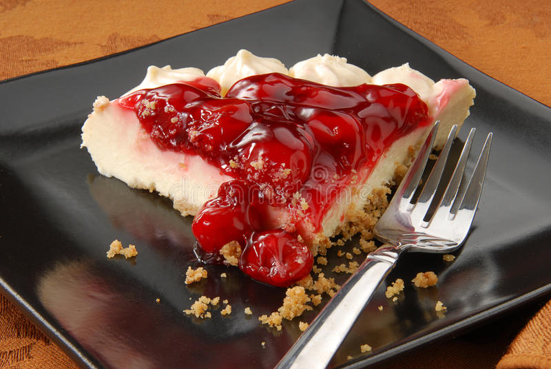 вишня cheesecake стоковое изображение