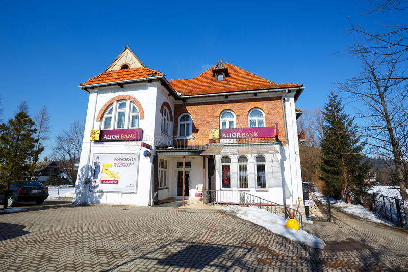 Вилла сделанная кирпича в Zakopane стоковая фотография rf