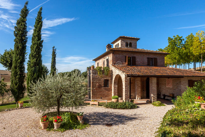 Вилла Тосканы стоковое фото rf