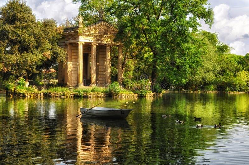 Вилла Borghese, Рим, Италия стоковое фото rf