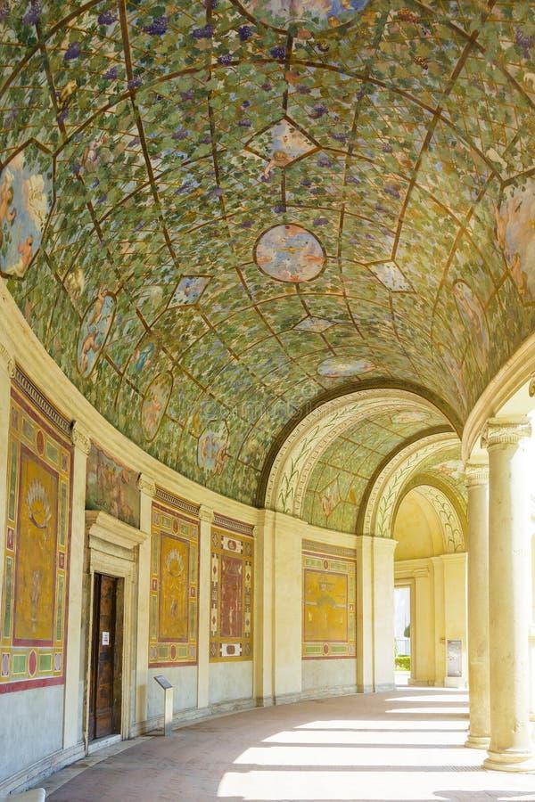 Вилла Giulia в Риме, дворе и аркаде стоковое изображение rf