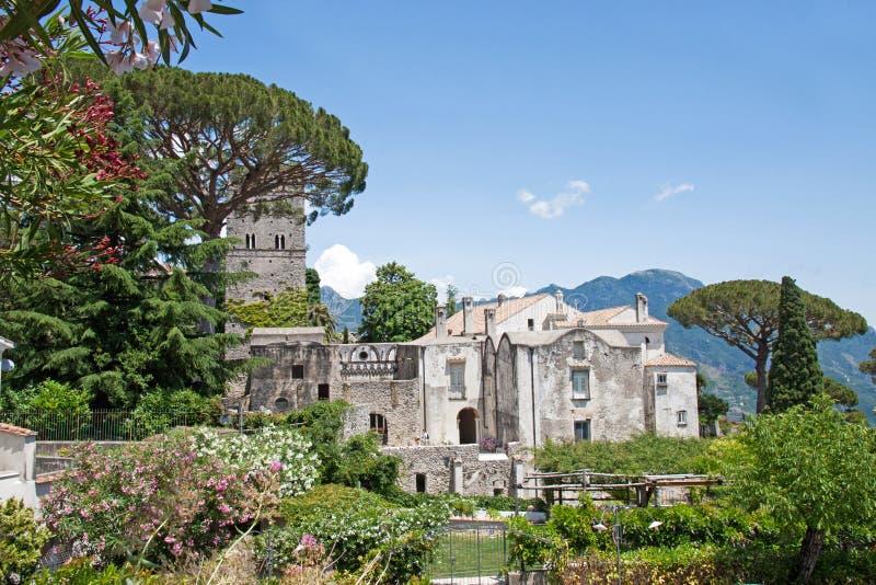 Вилла Rufolo в Ravello, побережье Амальфи, Италии стоковые фотографии rf