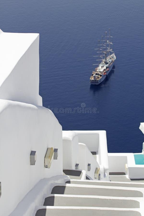 Вилла Santorini стоковые изображения