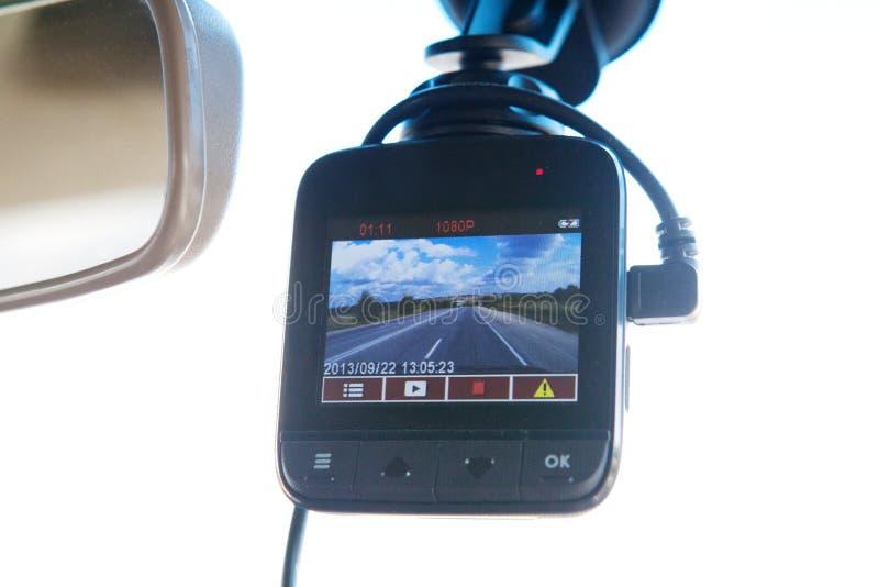 Видеозаписывающее устройство в автомобиле стоковое фото