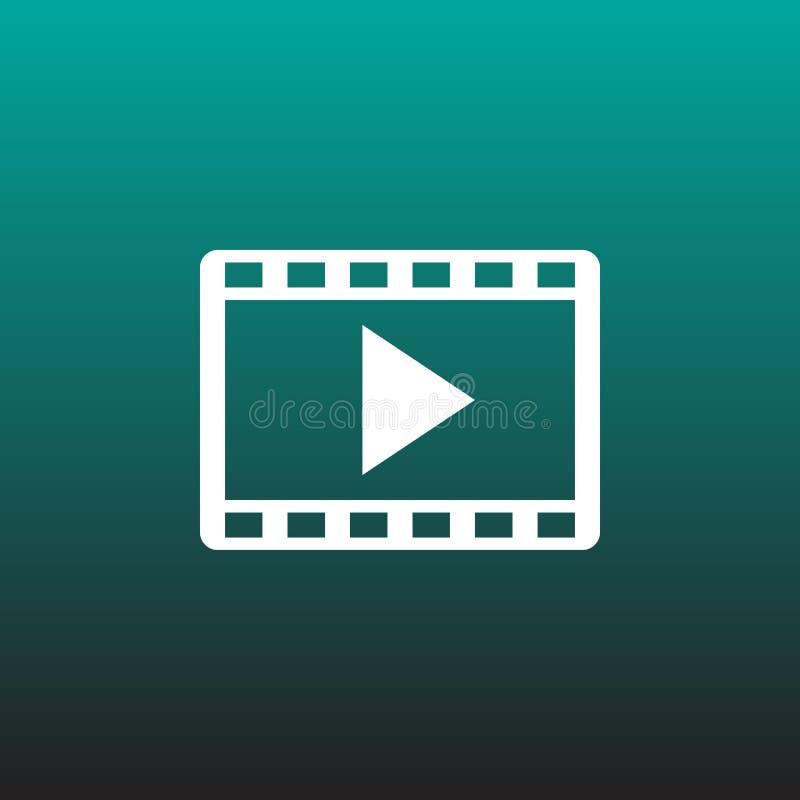 Видео- графический дизайн иллюстрации значка вектора иллюстрация штока