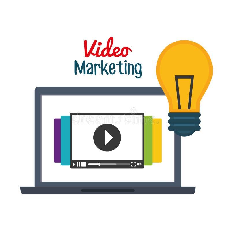 Видео- графический дизайн маркетинга, иллюстрация вектора бесплатная иллюстрация