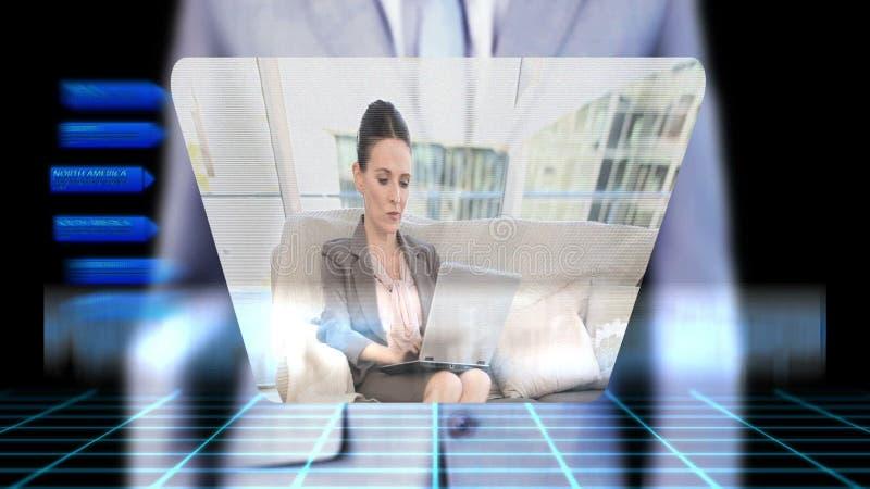 Видео дела бизнесмена одушевляя видеоматериал