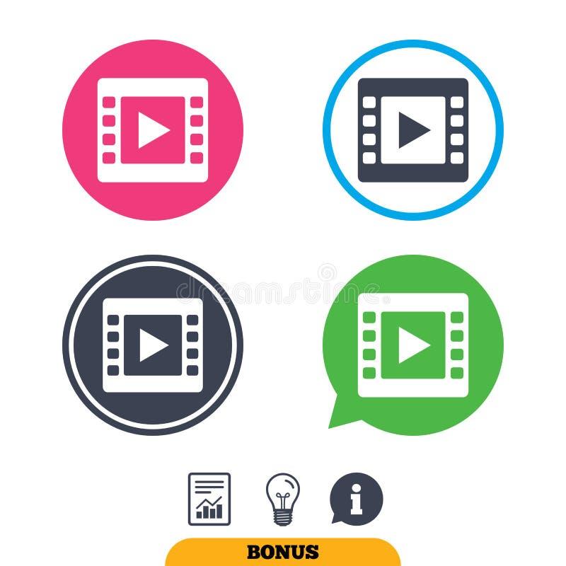 Download Видео- значок знака Символ видео- рамки Иллюстрация вектора - иллюстрации насчитывающей график, пленка: 81807011