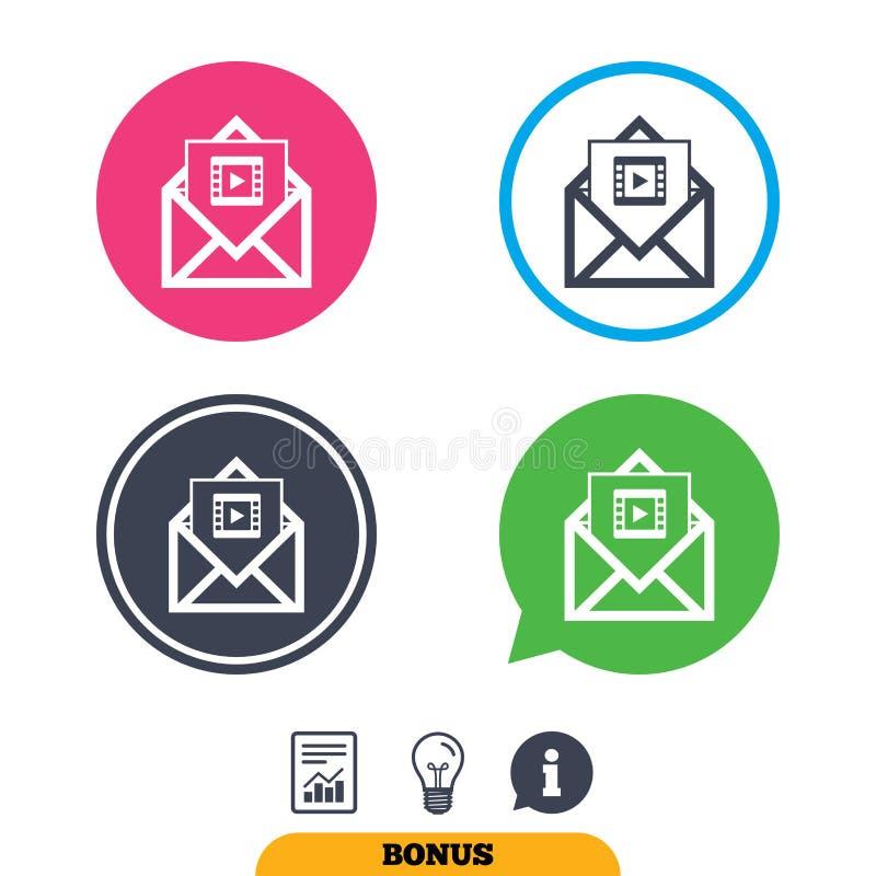Download Видео- значок почты Символ видео- рамки сообщение Иллюстрация вектора - иллюстрации насчитывающей рамка, bryce: 81807032