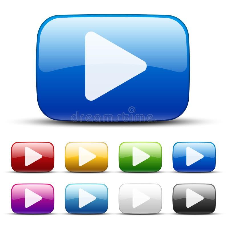 Видео- кнопки бесплатная иллюстрация