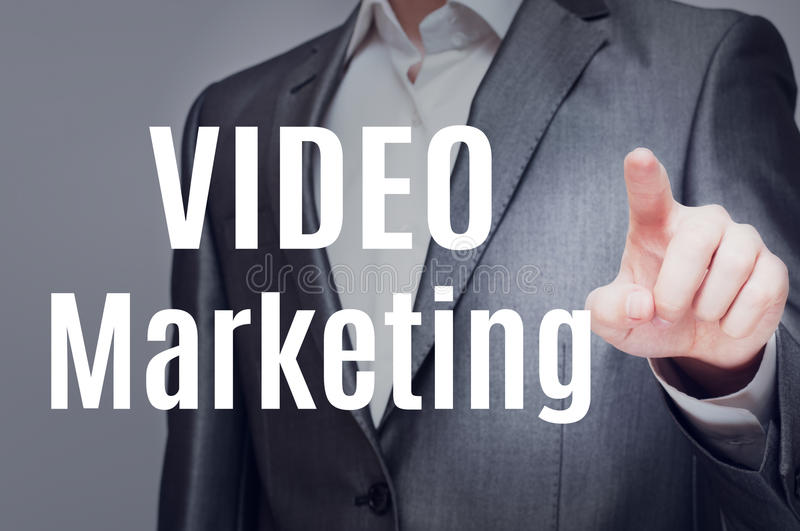 Видео- маркетинг стоковые изображения rf