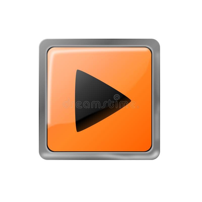 Видео-плейер, значок аудиоплейера стоковые изображения rf
