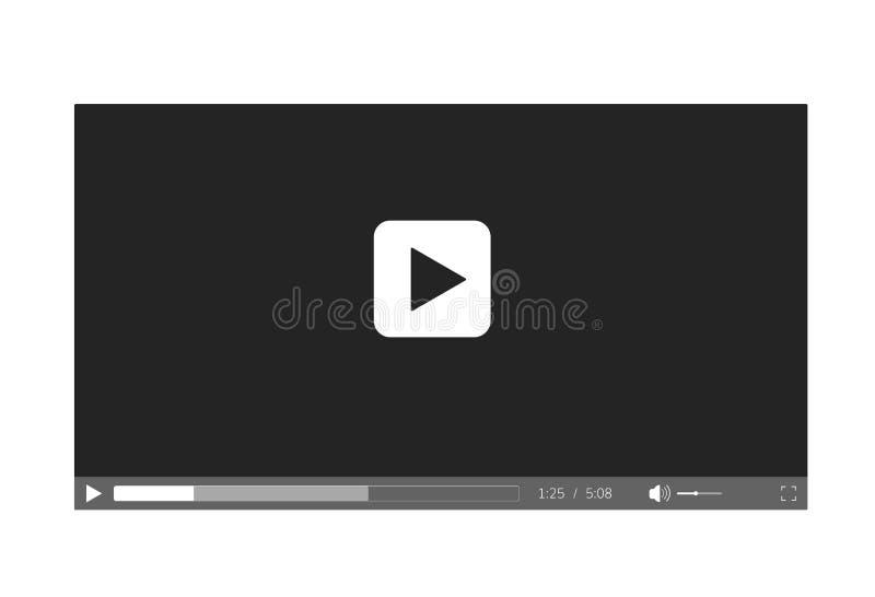 Видео-плейер для вебсайта Интерфейс видео-плейер бесплатная иллюстрация