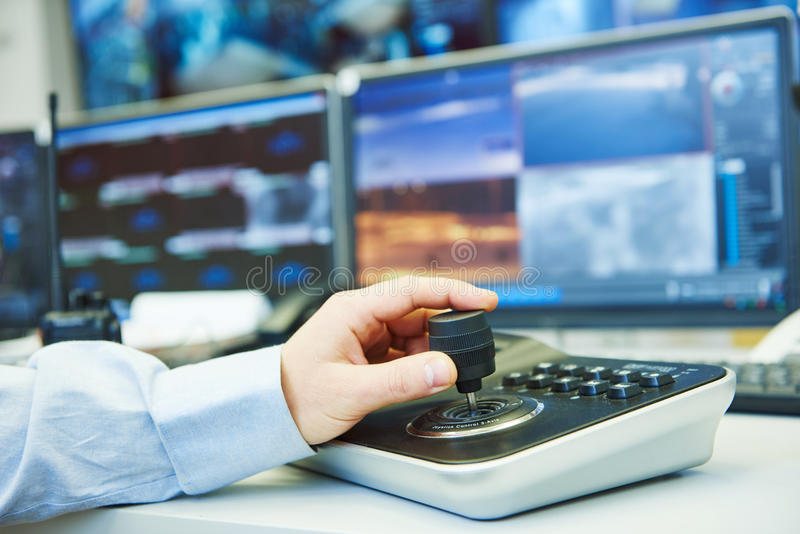 Видео- система безопасности наблюдения контроля стоковое фото rf