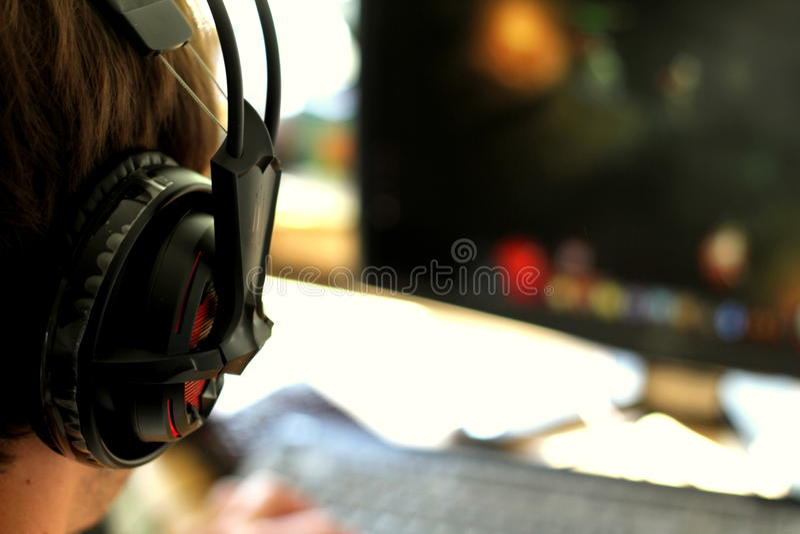 Видео- Gamer стоковые фотографии rf