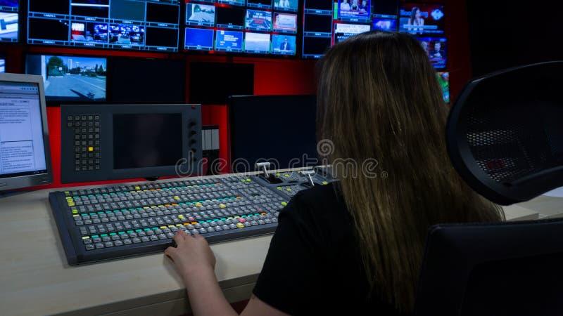 Видео- Switcher с много кнопками цвета стоковые изображения