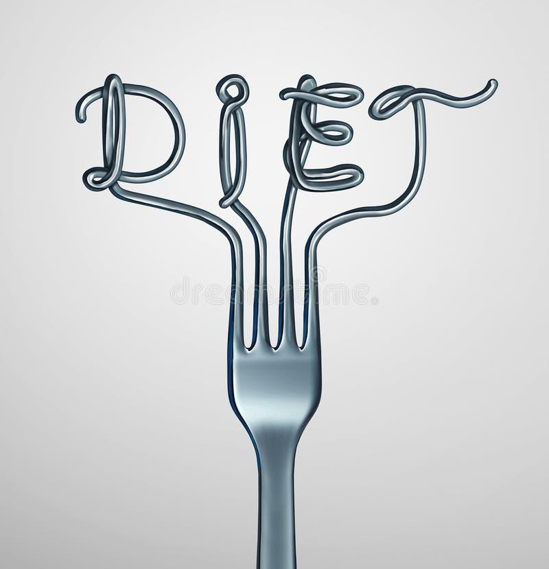 Вилка диеты иллюстрация вектора