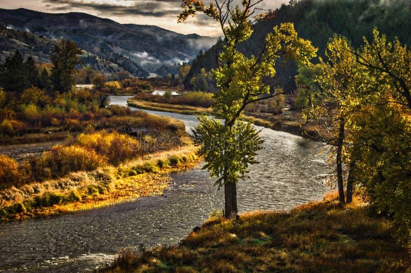 Вилка Clark, Монтана стоковые фотографии rf