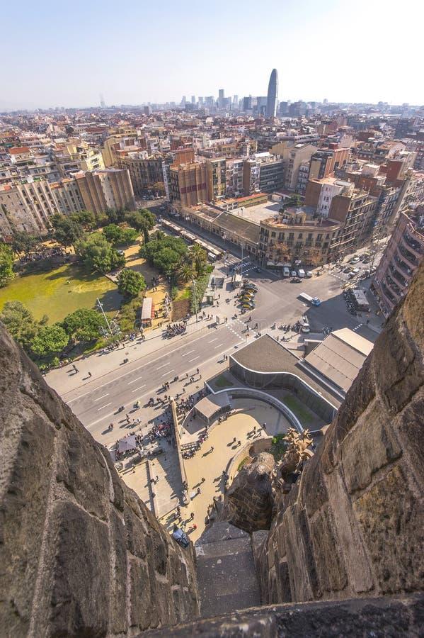 Вид на город Барселоны стоковое фото rf