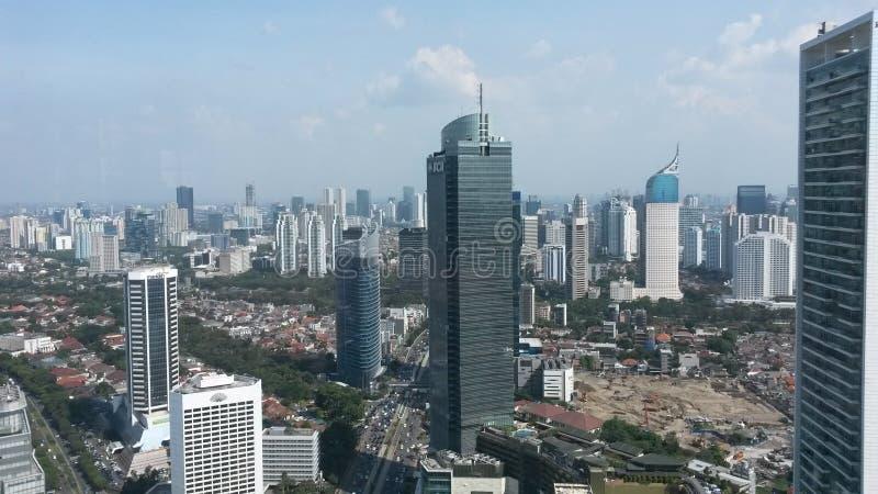 Вид на город Джакарты стоковое изображение rf