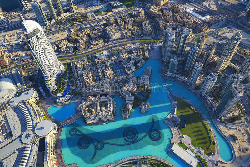 Вид на город Дубай стоковое фото