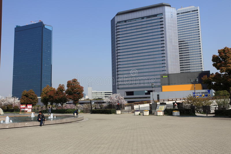 Вид на город Осака, Япония стоковые изображения rf