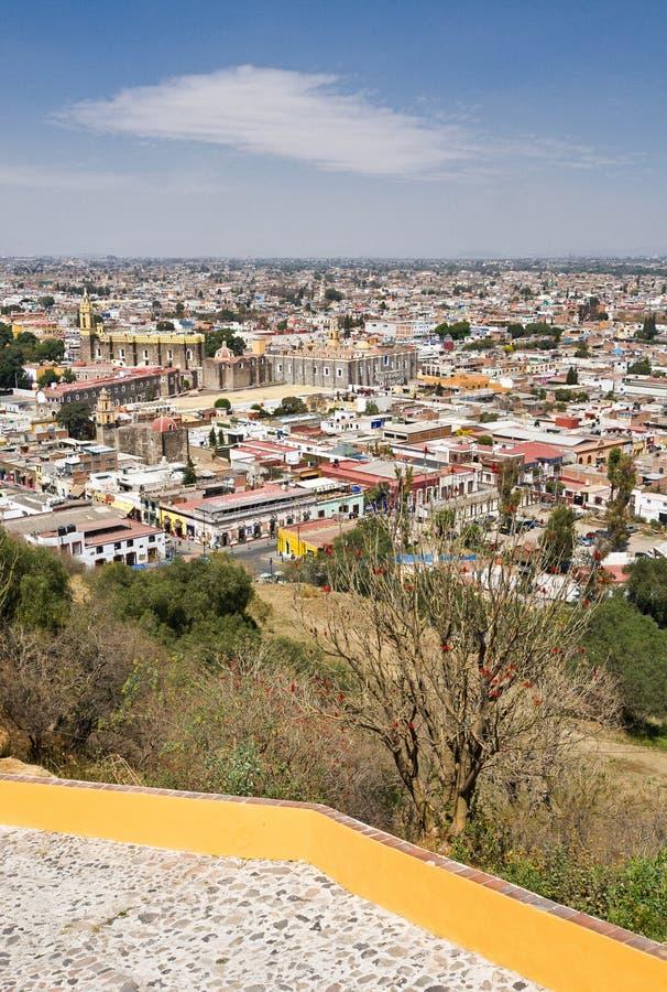 Вид на город Пуэбла, Мексика стоковая фотография rf