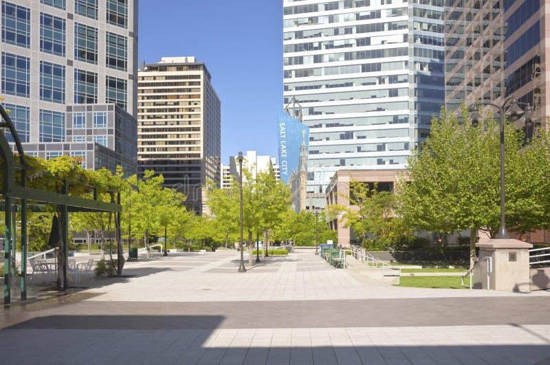 Вид на город Солт-Лейк-Сити городской стоковая фотография