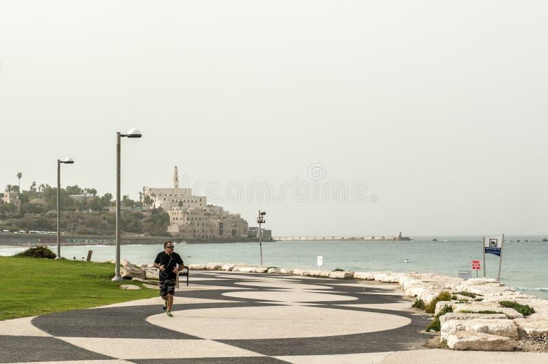 Вид на город Тель-Авив стоковые изображения