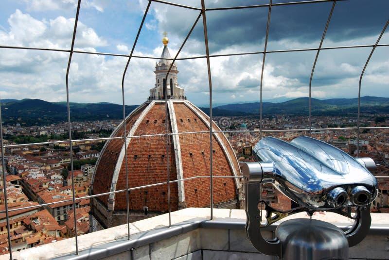 Вид на город Флоренса от башни стоковое изображение rf