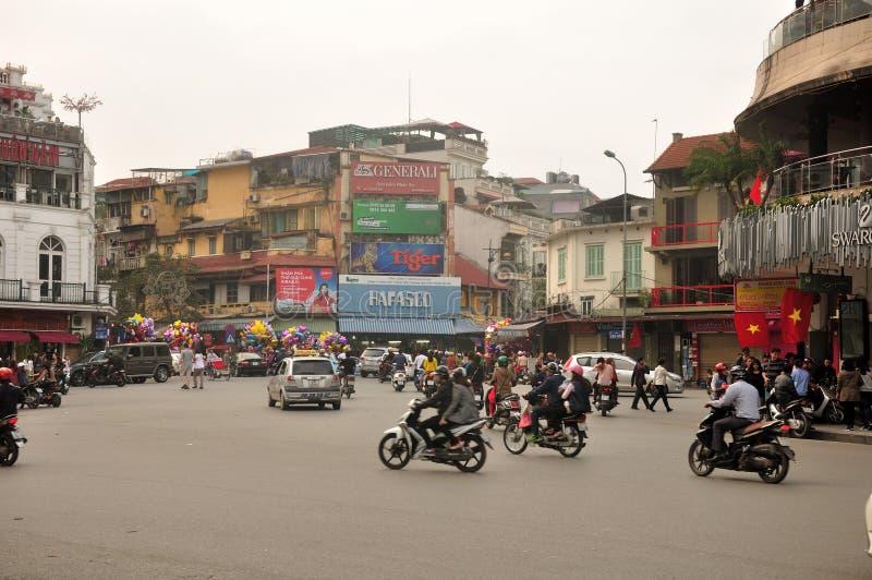 Вид на город Ханоя Вьетнама стоковая фотография rf