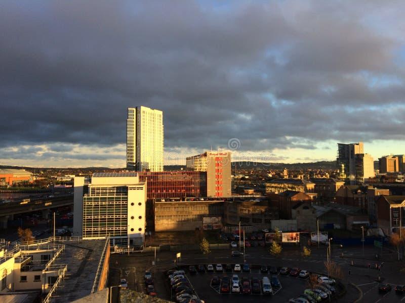 Вид на город стоковое изображение rf