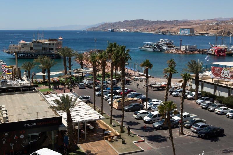 Вид на город Eilat стоковое изображение