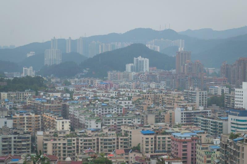 Вид на город villege Китая города guiyang 2 туризма стоковое фото rf