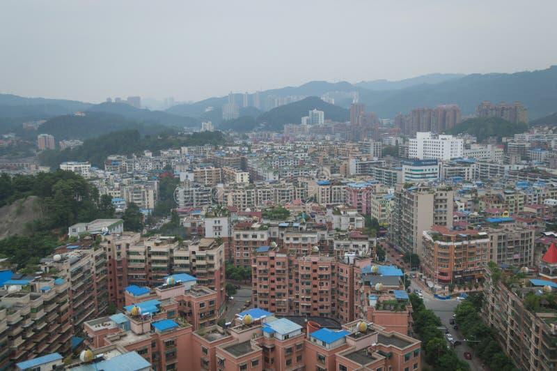 Вид на город villege Китая города guiyang 3 туризма стоковое изображение rf