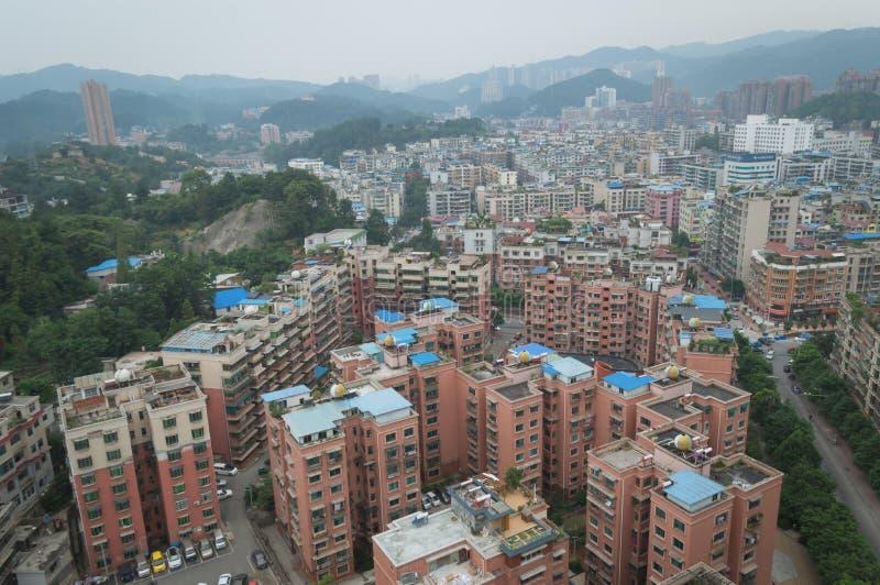 Вид на город villege Китая города guiyang 5 туризма стоковое фото