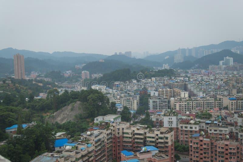 Вид на город villege Китая города guiyang 6 туризма стоковая фотография