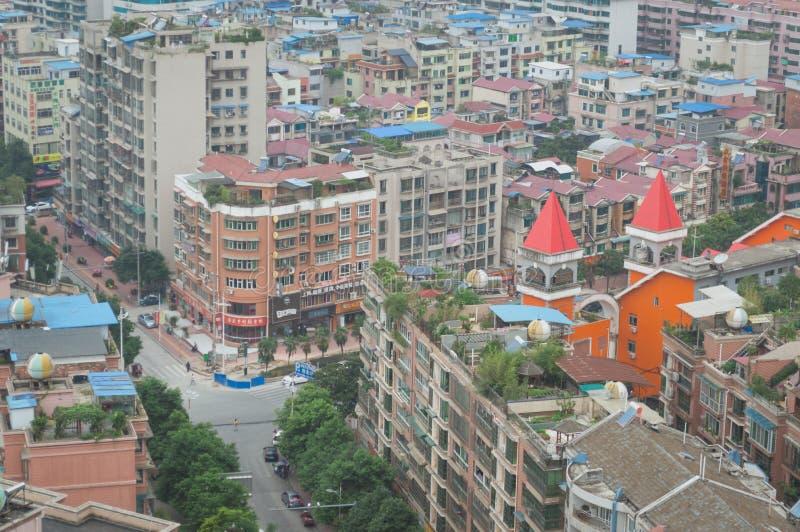 Вид на город villege Китая города guiyang 7 туризма стоковое фото