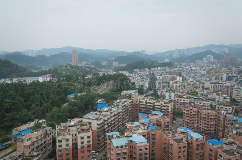 Вид на город villege Китая города guiyang 9 туризма стоковое изображение rf