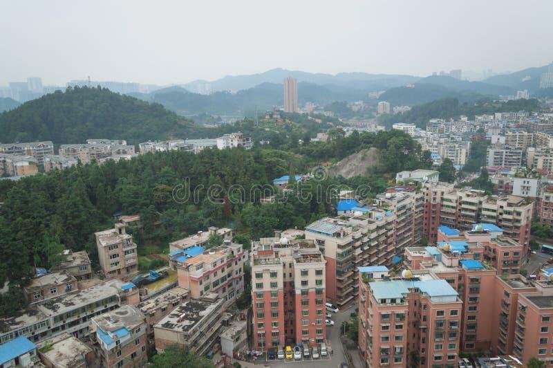 Вид на город villege Китая города guiyang 11 туризма стоковая фотография