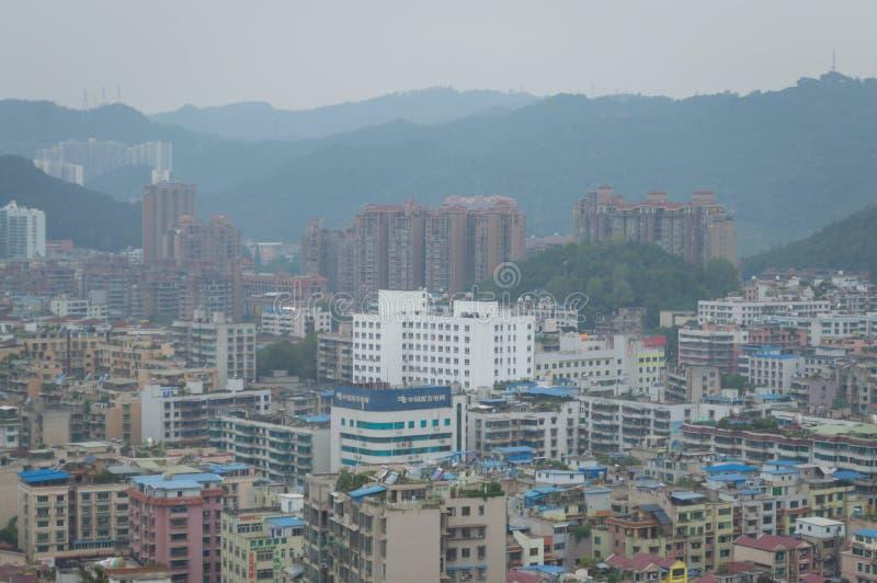 Вид на город villege Китая города guiyang 13 туризма стоковые изображения rf