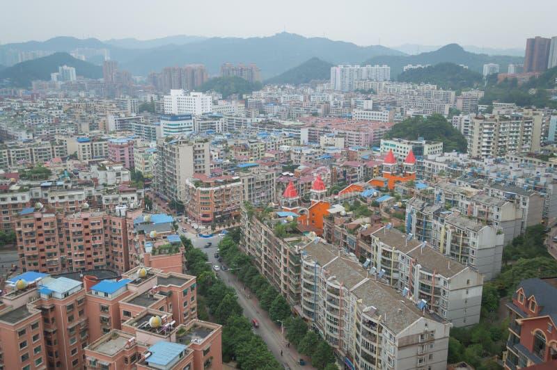 Вид на город villege Китая города guiyang 16 туризма стоковая фотография rf