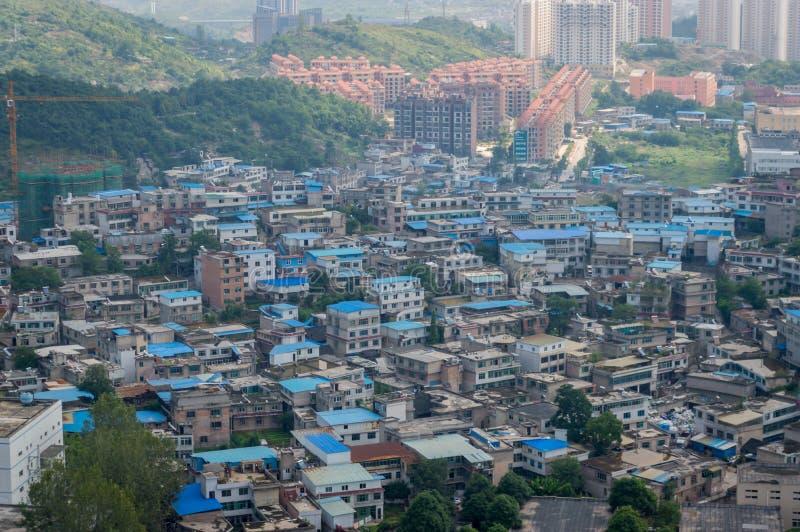 Вид на город Villege guiyang, фарфора 5 стоковое изображение