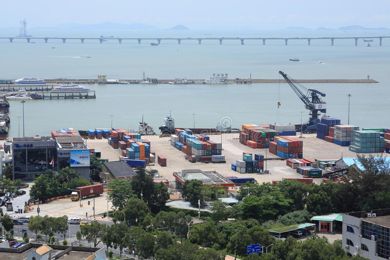 Вид на город zhuhai стоковые фотографии rf