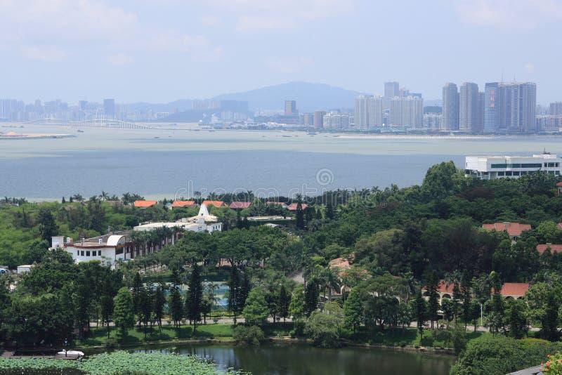 Вид на город zhuhai стоковое изображение rf
