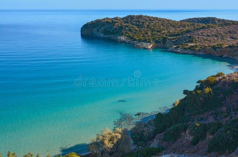 Вид на море, залив Mirabello. стоковое фото rf