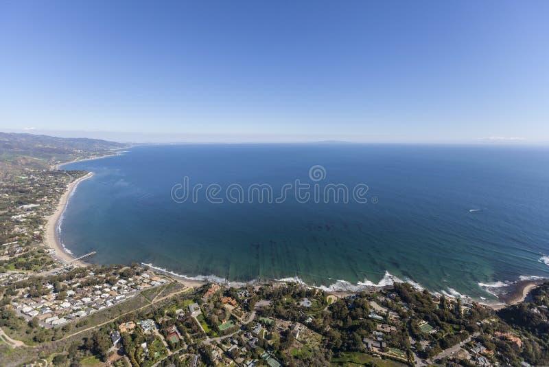 Вид на океан залива Malibu Санта-Моника стоковые изображения rf