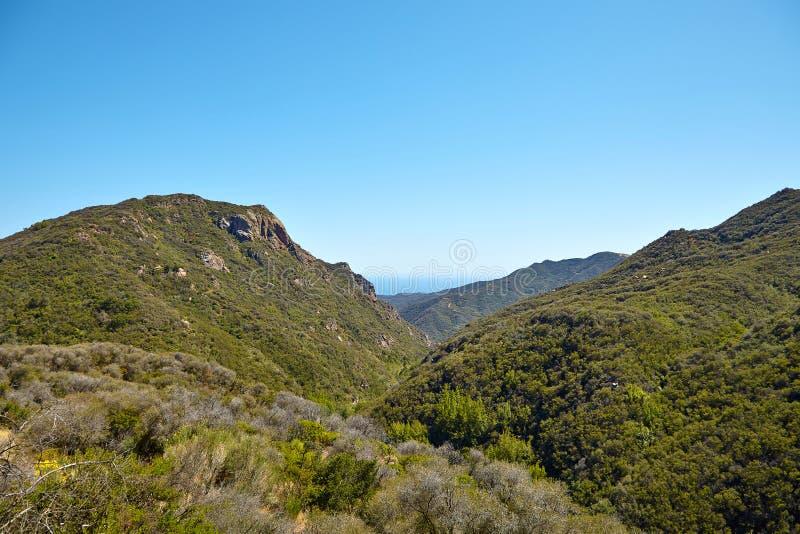 Вид на океан и геология, Malibu, CA стоковая фотография rf