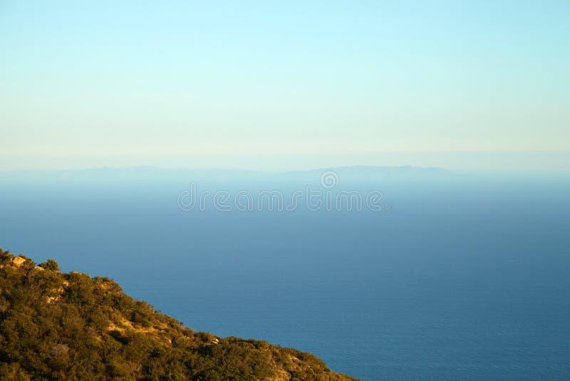 Вид на океан и геология, Malibu, CA стоковые фото