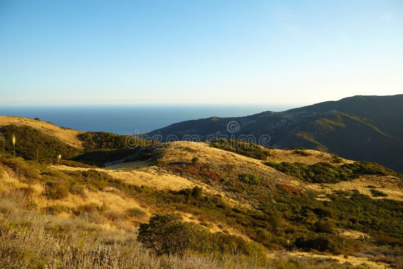 Вид на океан и геология, Malibu, CA стоковые изображения